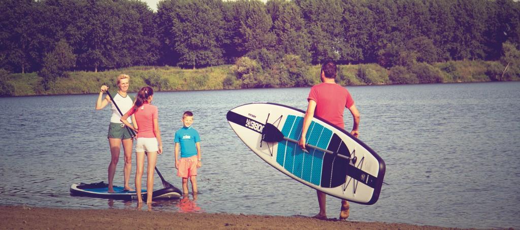 JOBE Stand Up Paddle Board Family Paddling