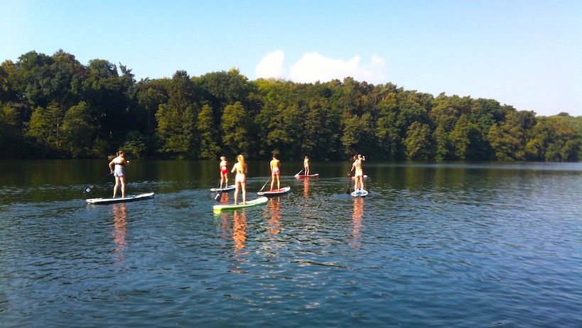 Incentive Teambuilding Stand Up Paddling Berlin Schlachtensee