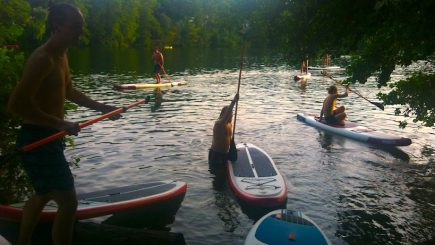 Stand Up Paddling Berlin Incentive Teambuilding