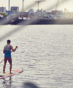 Jobe Bamboo Stand Up Paddle Board 11.6 in Action 2