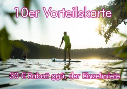 Stand Up Paddling Berlin Schlachtensee Steh-Paddler.com 10er Karte 2019