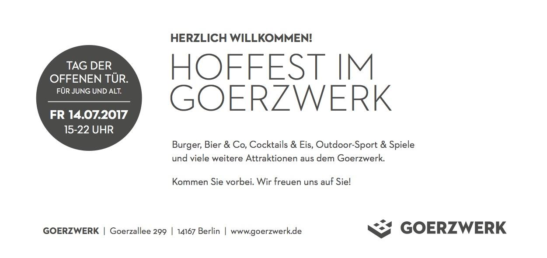 Goerzwerk Hoffest 2017 Einladung