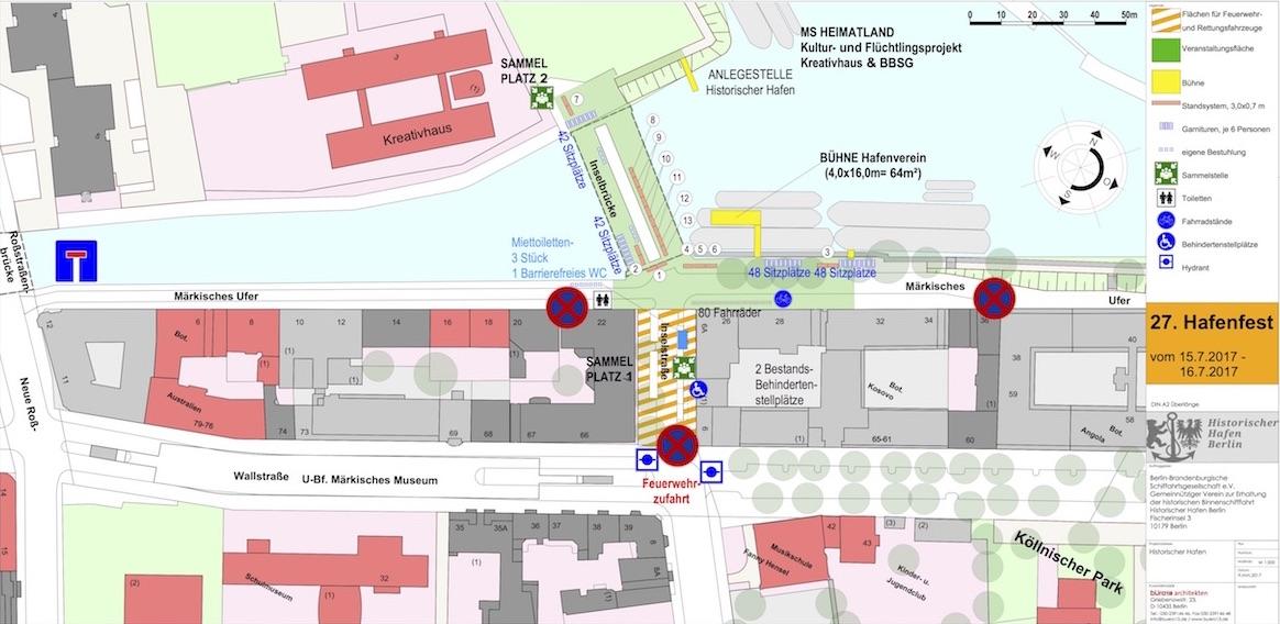 Historischer Hafen Berlin Hafenfest Übersichtskarte