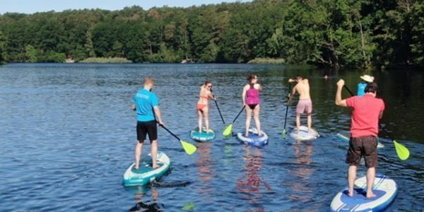 SUP Gruppenbuchung Schlachtensee-Stand-Up-Paddling-Stehpaddler-01