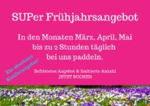 SUPer Frühjahrsangebot Stand Up Paddling Berlin Schlachtensee