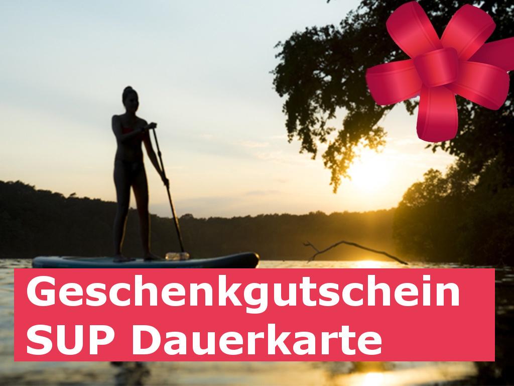 Geschenk Gutschein SUP Dauerkarte